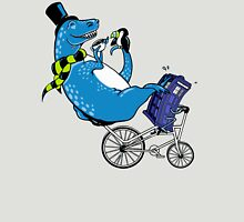 Tandem T-Rex with Toucan and Tea while Tardis Toils Unisex T-Shirt
