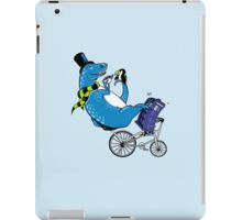 Tandem T-Rex with Toucan and Tea while Tardis Toils iPad Case/Skin