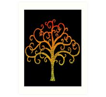 Firey Tree Art Print