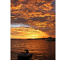 Fire in the Sky - sunset Horseshoe Bay Queensland Photographic Print