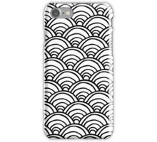 Waves All Over Black and White iPhone Case/Skin
