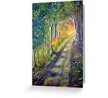 Walking to the light Greeting Card