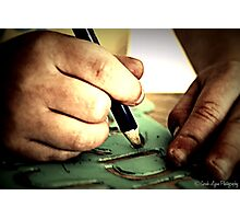 Little Artist Hands Hard at Play Photographic Print