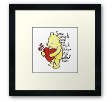 I Think It's Called Love Framed Print