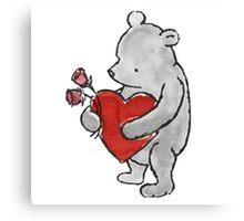Pooh - Valentine Canvas Print