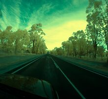 On the road, Albany Hwy near Kojonup, Western Australia by BigAndRed