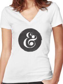 AMPERSAND Women's Fitted V-Neck T-Shirt