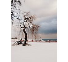 A Winter's Day at Lake Ontario-Canada Photographic Print