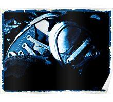 Fall Chucks -- Cyanotype Poster