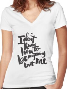 anything but me Women's Fitted V-Neck T-Shirt