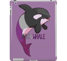 Asexuwhale - with text iPad Case/Skin