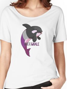 Asexuwhale - with text Women's Relaxed Fit T-Shirt