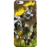 Dandelion Life Cycle with artistic filter iPhone Case/Skin