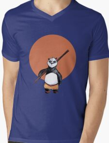 The Fat Panda Mens V-Neck T-Shirt