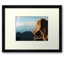 Matty Sioux on Mount Elinor Framed Print