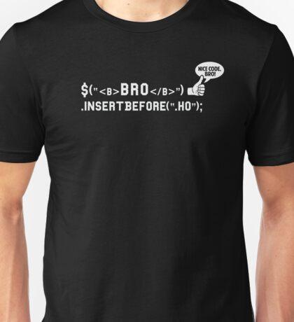 Bro Code | Geek Programmer  Unisex T-Shirt