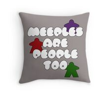 Meeples are people too! Throw Pillow