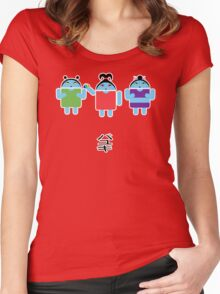 Droidarmy: Fruity Oaty Droids Women's Fitted Scoop T-Shirt