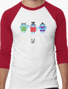 Droidarmy: Fruity Oaty Droids Men's Baseball ¾ T-Shirt