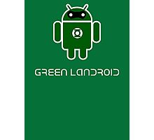Droidarmy: Green Lantern (text) Photographic Print