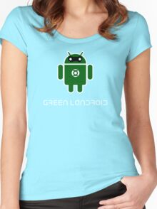 Droidarmy: Green Lantern (text) Women's Fitted Scoop T-Shirt