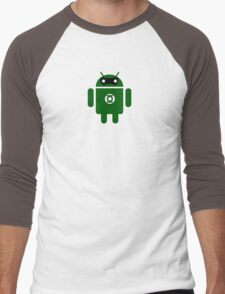 Droidarmy: Green Lantern (text) Men's Baseball ¾ T-Shirt