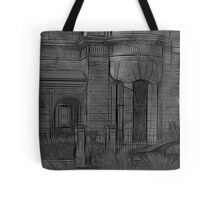 Creepy Beach House - (Desaturated HDR, and Fractalius) Tote Bag