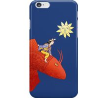 Girl on Flying Fish iPhone Case/Skin