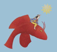 Girl on Flying Fish Kids Clothes