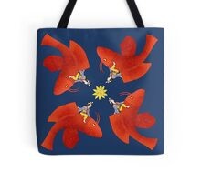 Girl on Flying Fish Tote Bag