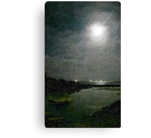 Summer Moon Over the Lagoon_Carpinteria, CA Canvas Print