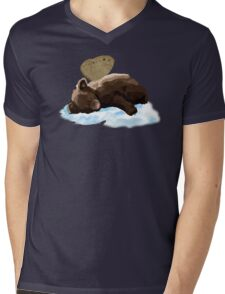 Fairy Bear (Blue) Mens V-Neck T-Shirt