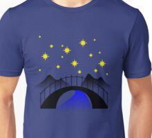 Midnight over the river Unisex T-Shirt