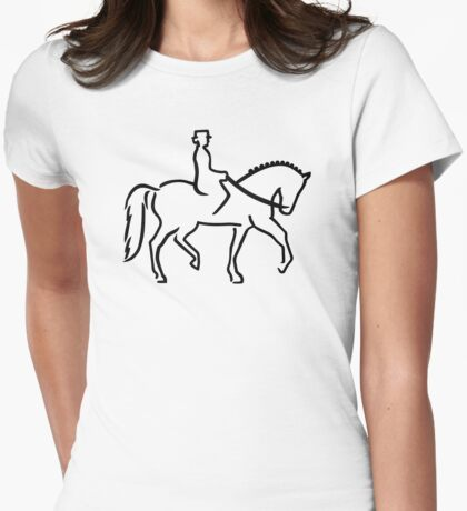 Dressage Womens Fitted T-Shirt