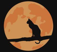 Full Moon Cat Kids Clothes