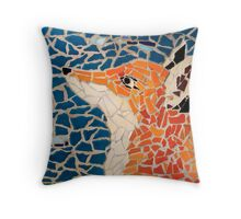 Fox Mosaic Throw Pillow