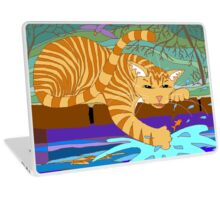 Cat Fishing Sort Of Laptop Skin