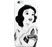 Snow White Sketch iPhone Case/Skin
