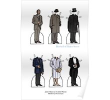 James Mason as Dr. Watson Paper Dolls Poster