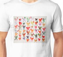Tie Dye Chickens in Lines #1 Unisex T-Shirt