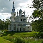 Russian Church in Countryside by mikejohnson