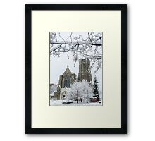 The Church of St. Mary/St. Paul in Winter Framed Print