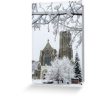 The Church of St. Mary/St. Paul in Winter Greeting Card