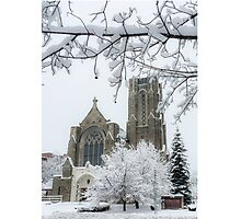 The Church of St. Mary/St. Paul in Winter Photographic Print