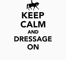 Keep calm and dressage on Womens Fitted T-Shirt