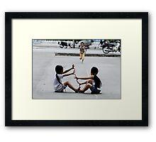 Street games Framed Print