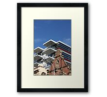 Architectural Contrasts Framed Print