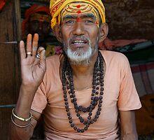 Sadhu at Pashupatinath, Kathmandu, Nepal by Denny0976