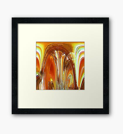 Stones and Glas Framed Print