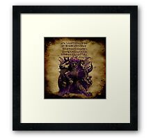 GRIST - And on its Heads the Name of Blasphemy... Framed Print